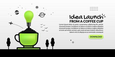 glödlampa som lanseras från kaffekoppen