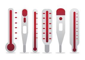 Ziel-Thermometer Vektor-Set vektor