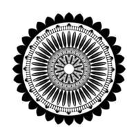 svart blommig mandala