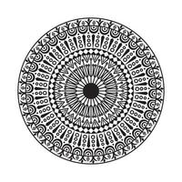 svartvit dekorativ cirkelmandala