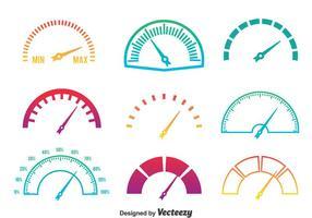 Meter Ikoner Gradient Färger Vector