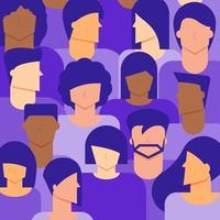 Hintergrund der Vielfalt von Frauen und Männern vektor