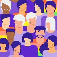 mångfald lgbtq människor bakgrund vektor