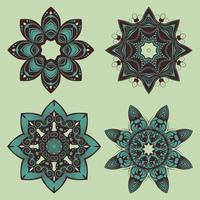 dekorativa blommiga mandala design