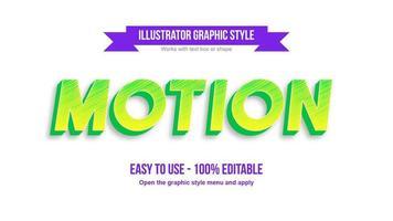 bearbeitbarer Texteffekt für grüne und gelbe moderne Kursivschrift vektor