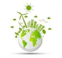 global ekologi och miljökoncept vektor