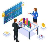 Teamarbeit über die Entwicklung ihres Geschäfts vektor