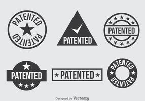 Patent Dunkelgrau Icons Set vektor