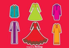 Arabische Abaya Sammlung Vektor