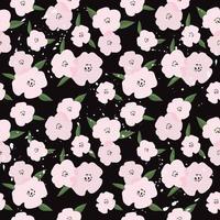 söta rosa blommor sömlösa mönster