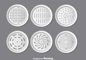 Metall Schachtabdeckungen Vector Set