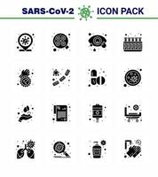 Solid Black Coronavirus Icon Pack inklusive Seife