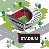 isometrisches Sportstadion