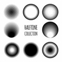 Kreis Halbtonmuster Sammlung vektor