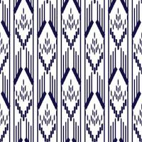 blå och vita ikat sömlösa mönster vektor
