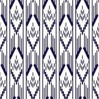 blaues und weißes Ikat nahtloses Muster