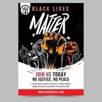 schwarze Leben Materie erhoben Faust Flyer