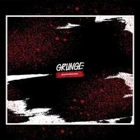 rot-weiß grobkörniges Grunge-Design vektor