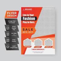 Flyer Vorlage für Online-Modeverkauf vektor