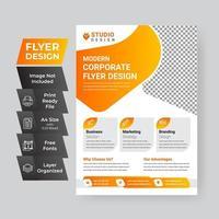 malldesign för företagsreklamblad