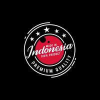 tillverkad i Indonesiens kvalitetsstämpel