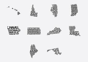 Amerika Wort Karte Set 2