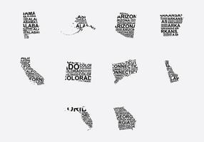 Amerika Wort Karte Set 3