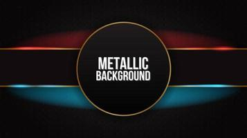 horisontell röd och blå glödande metallisk design vektor