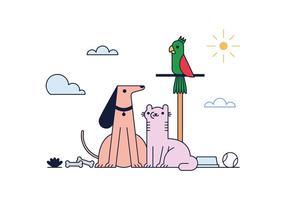 Kostenlose Haustiere Vektor