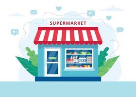 livsmedelsbutik koncept