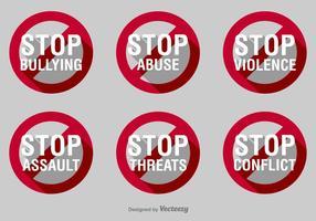 Sluta mobbning vektor tecken