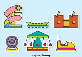 Karneval Spielplatz Sammlung Vektor
