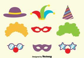 Karneval Purim Maske Sammlung Vektor