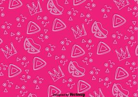 Urlaub Purim Pink Background Pattern vektor