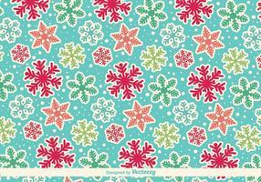 Cartoony snöflingor vektor mönster