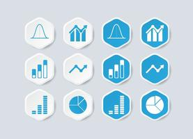 Bell Curve Infografik Icon