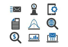 Marknadsföring ikonuppsättning
