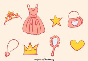 Prinzessin Element Vektor Set