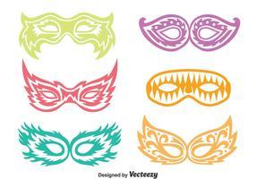 Pageant Maske Vektor Set