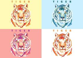 Tiger färgglada vektor