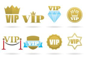 VIP-logotyper vektor