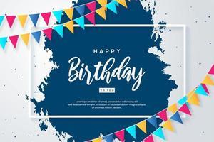 Geburtstagshintergründe mit bunter Geburtstagsflagge vektor