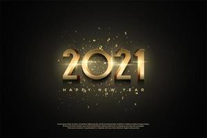 schwarzer Hintergrund mit metallischem 2021