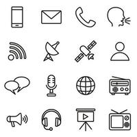 Kommunikationssymbol eingestellt vektor