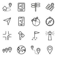 Icon-Set für Navigationstechnologie