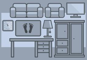 Ställ in hemmet möbel ikoner