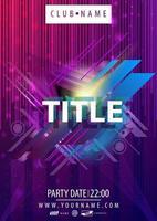 lila parti affischmall med abstrakta linjära former