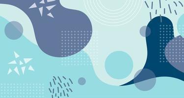 blå abstrakt flytande element och former