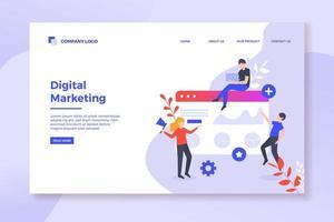 Zielseite für digitales Marketing vektor