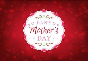 Kostenlose Vektor Happy Moms Day Illustration